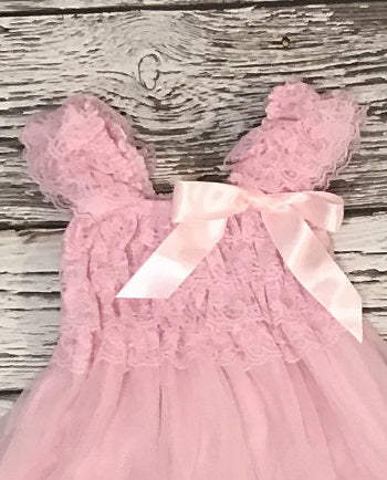 The Lauren lace dress - Pink