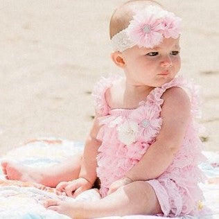 Pink Girls Romper. Baby Romper. First Birthday Outfit