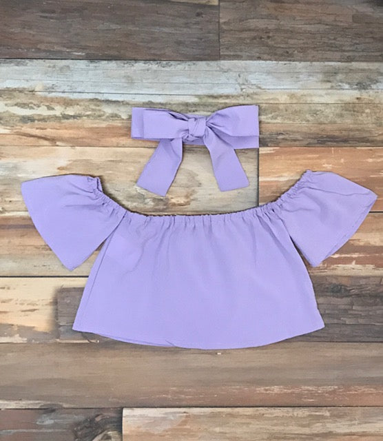 baby girl purple shirt