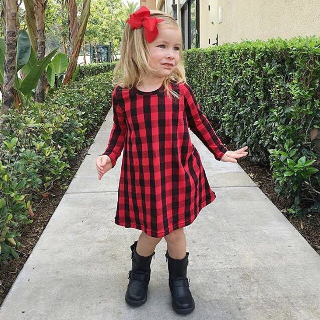 girls plaid dress