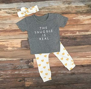 a08be7df5 The Snuggle is Real T shirt. baby girl legging outfit