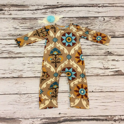 Aqua and Pink Victoria Romper set
