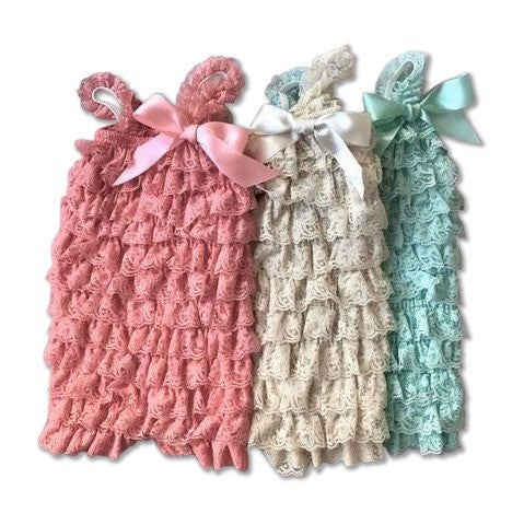petti lace rompers
