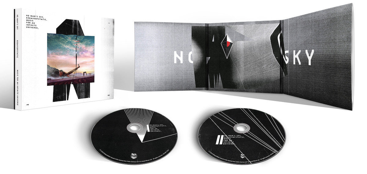 The 2 CD version of the No Man's Sky soundtrack vinyl with artwork by caspar (v)