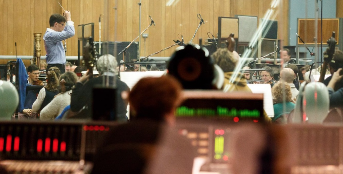 Eckehard Stier conducts the London Symphony Orchestra at Abbey Road Studios