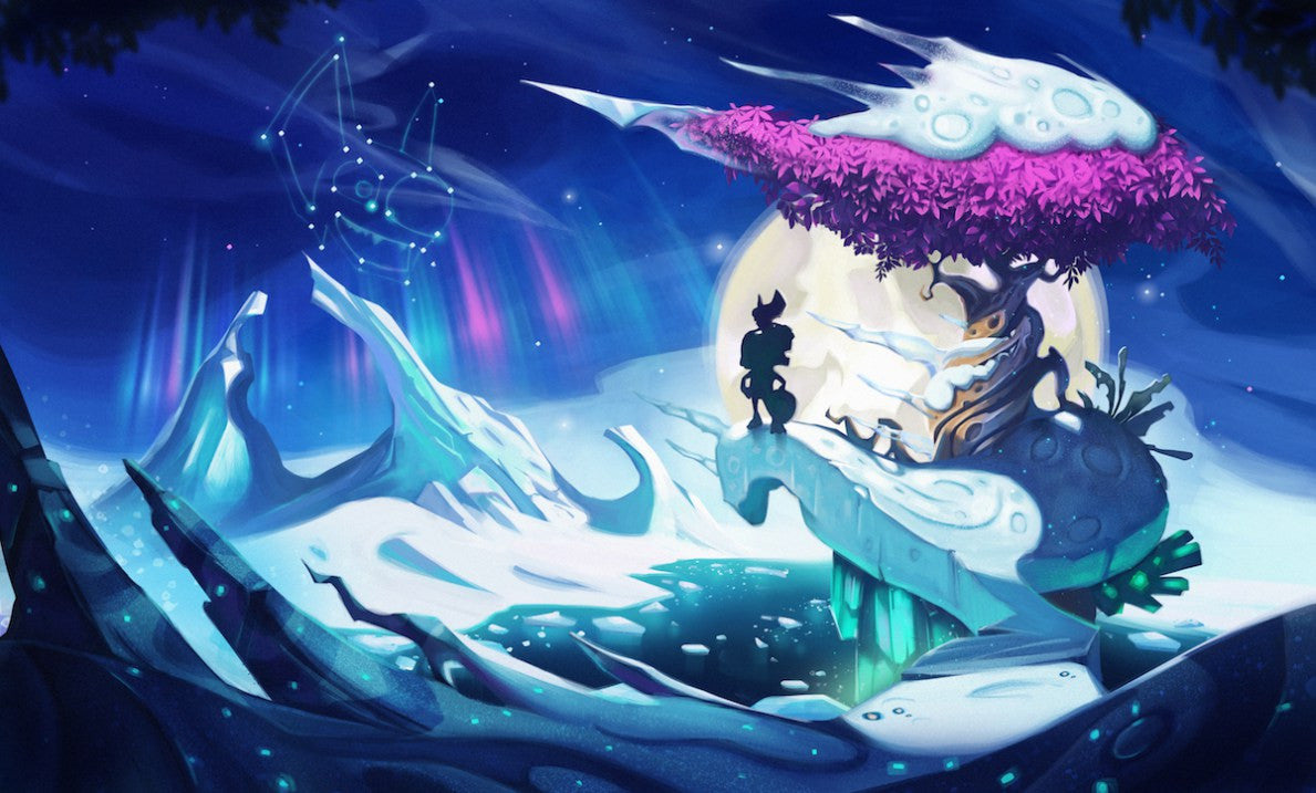 The Yooka-Laylee Kickstarter campaign key art for Glitter Glaze Glacier