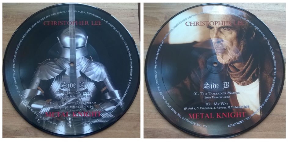 "Christopher Lee – Metal Knight (10"" - Charlemagne)"