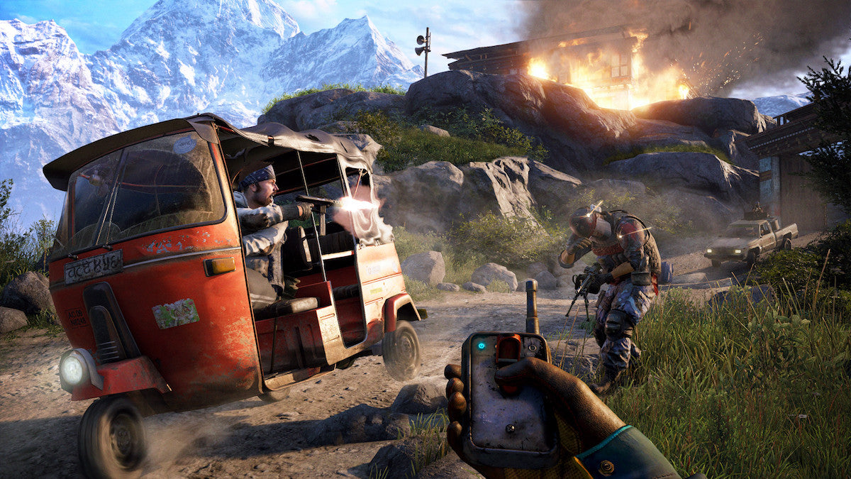PC Gamer covered some of the worst bullshots in PC gaming, including this from Far Cry 4