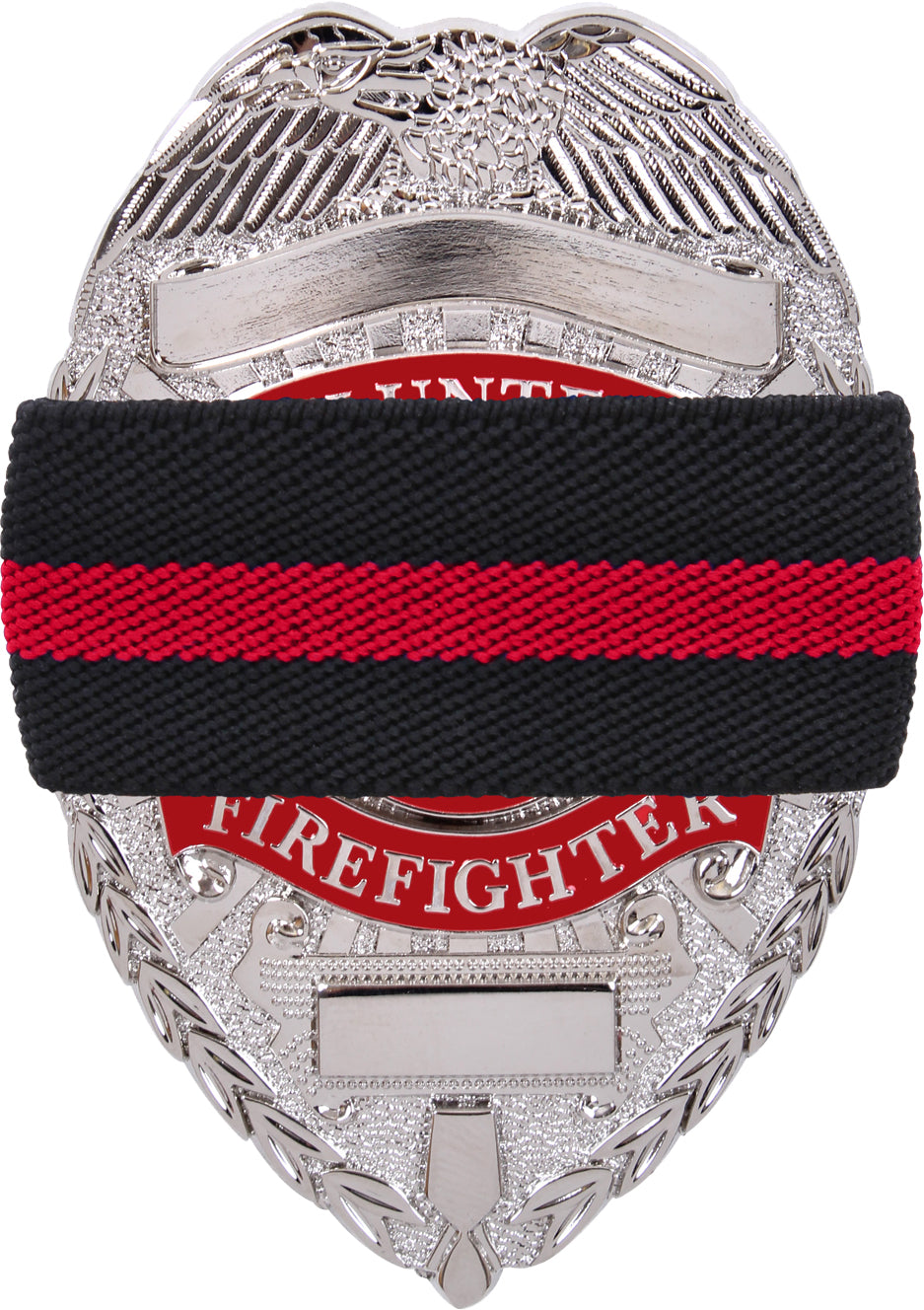 Black - Thin Red Line Support the Fire Department Mourning Band