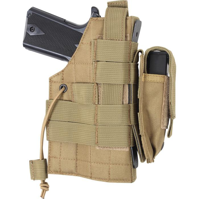 Coyote Brown - Tactical Military MOLLE Pistol Holster