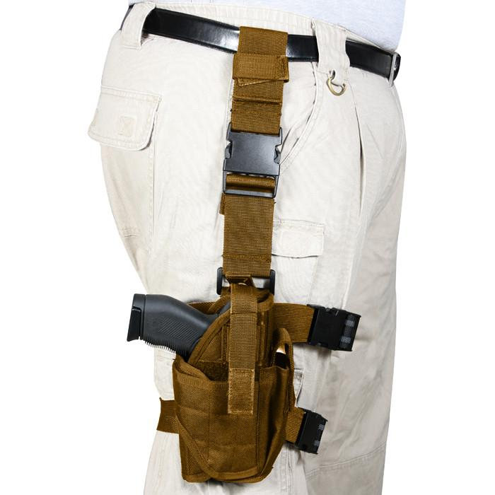 Coyote Brown - Deluxe Leg Strap Adjustable Tactical Holster