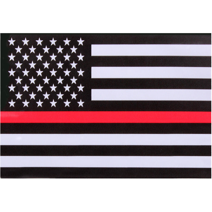 Thin Red Line Law Enforcement Flag Sticky Back Decal (Back-Gum)