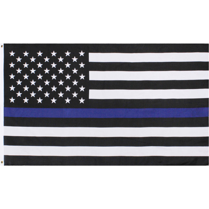 US American Flag Thin Blue Line (Support the Police) Flag 2' x 3'