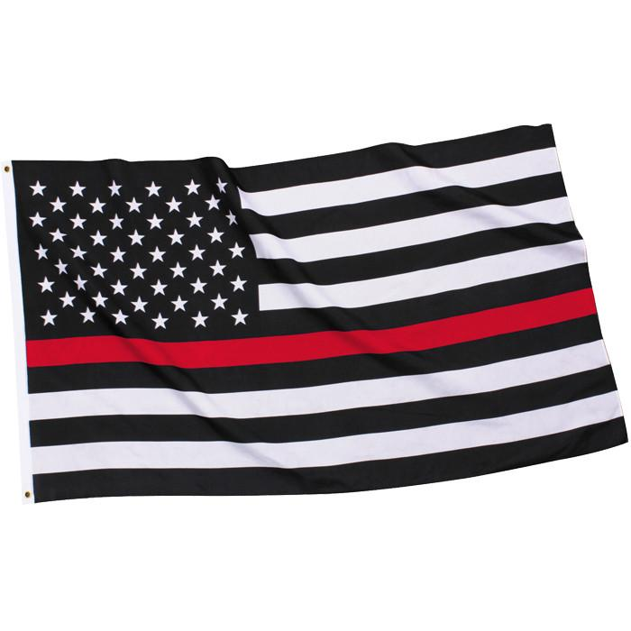 FREE SHIPPING!!! Firefighters Thin Red Line American Flag 3/'x5/'