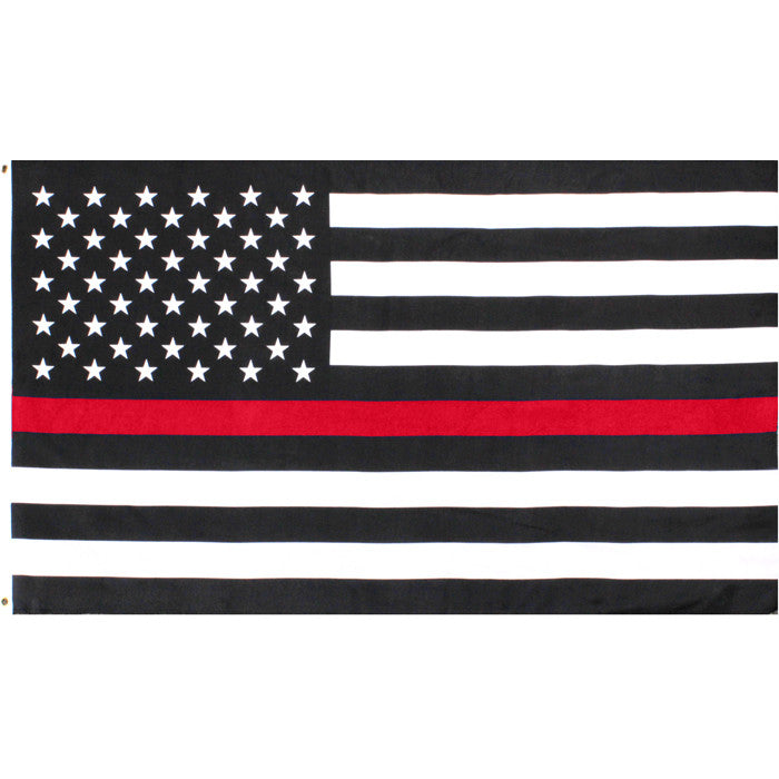 US American Flag Thin Red Line (Support the Firemen) Flag 3' x 5'