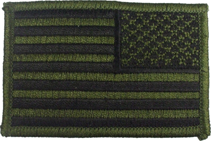 Subdued - Reversed US Flag Sew On Patch