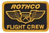 "Rothco Flight Crew Morale Patch With Hook and Loop closure 3 7/8"" X 2 5/8"""