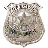 Silver - SPECIAL POLICE Pin-On Badge