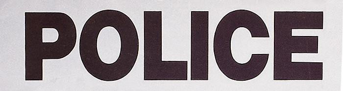 Grey - Law Enforcment POLICE Reflective Sew On Patch 3.5 in. x 12 in.