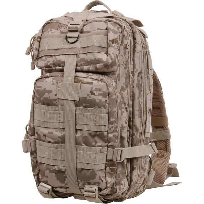 Digital Desert Camouflage - Military MOLLE Compatible Medium Transport Pack
