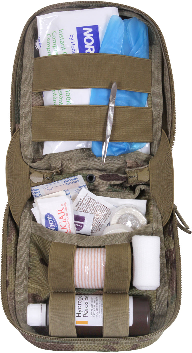 Multi Cam - Military MOLLE Tactical First Aid Kit Pouch