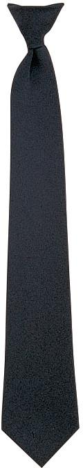 Black - Official Police Issue   Security Clip-On Necktie - 20 in.