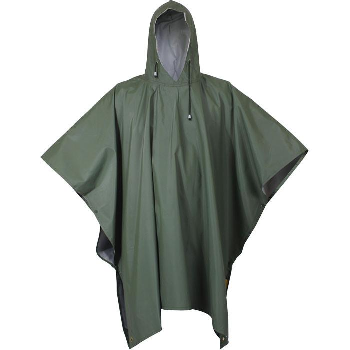 Olive Drab - Poncho - Rubber