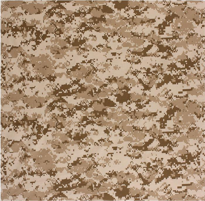 Digital Desert Camouflage - Military Bandana 22 in. x 22 in.