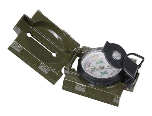 Olive Drab - Military Style Marching Compass with LED Light CR2025