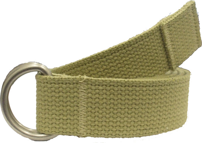 Khaki - Military D-Ring Expedition Belt