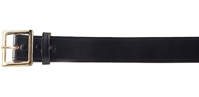 Black - Military Garrison Belt (Genuine Cowhide Leather) 1.75 in.
