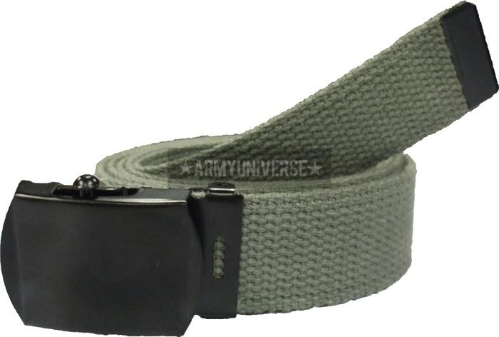 Foliage Green - Military Web Belt with Black Buckle 54 in.