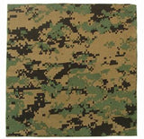 Digital Woodland Camouflage - Military Jumbo Bandana 27 in. x 27 in.