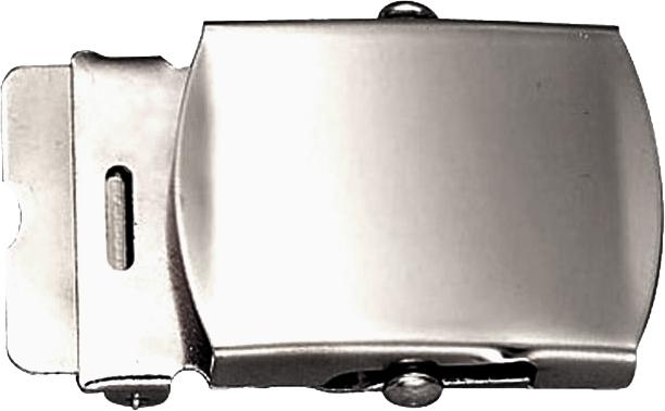 Chrome Plated - Military Web Belt Buckle