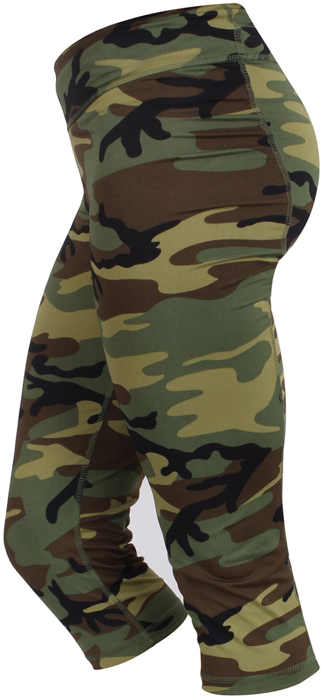 Woodland Camouflage - Womens Workout Performance Leggings