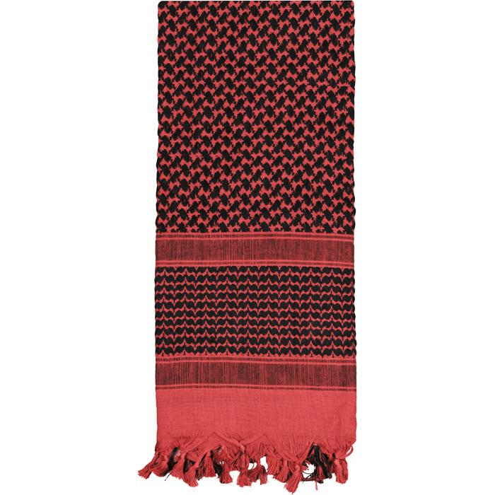 Black Red - Lightweight Tactical Desert Shemagh Scarf