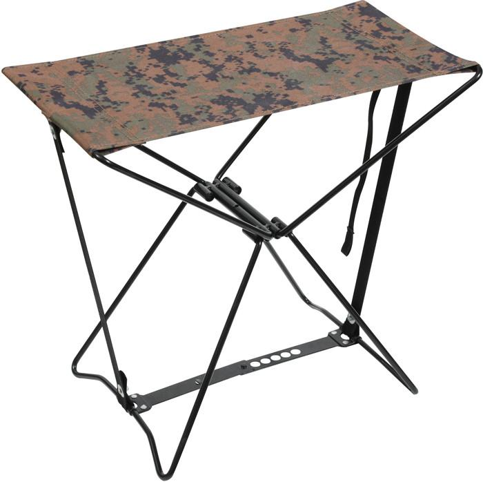 Digital Woodland Camouflage - Military Style Outdoor Folding Camp Stool