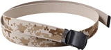 Digital Desert Camouflage Tan - Reversible Military Web Belt with Black Buckle 54 in.