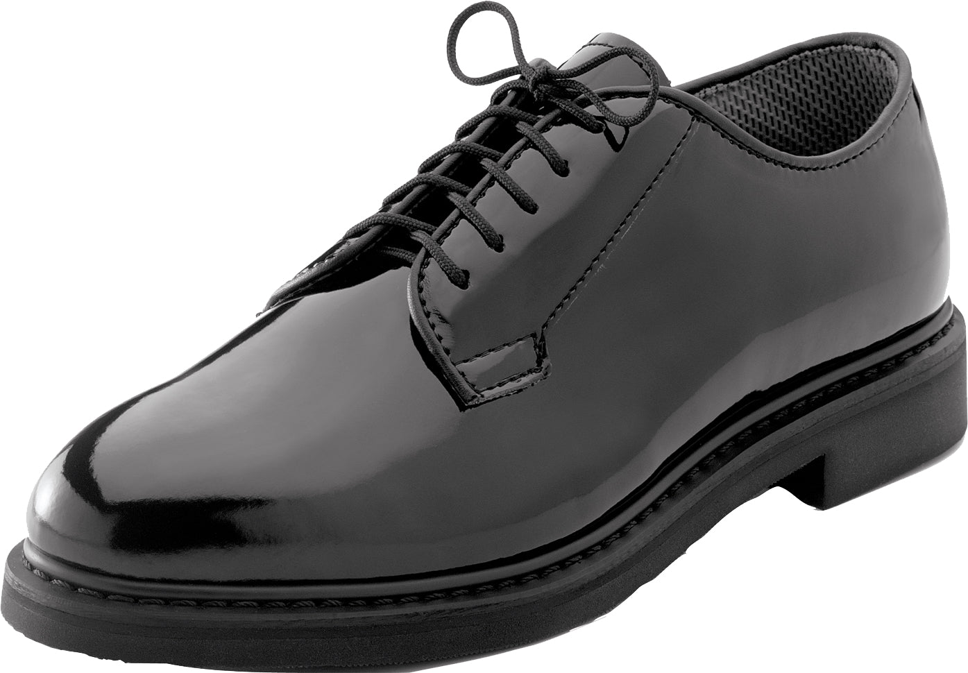 Black - US Navy Hi Gloss Lightweight Oxford Shoes