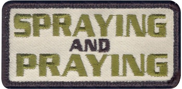 Spraying and Praying Embroidered Morale Patch