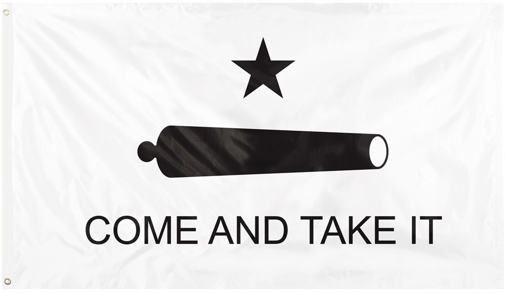 Come and Take it Cannon and Star Deluxe Flag 3' x 5'