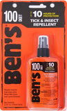 Ben's Military 100% Deet Tick & Insect Repellent Spray Pump 3.4oz
