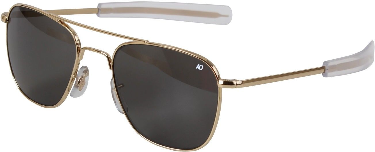 American Optics Genuine GI Polarized Gold 55MM Air Force Pilots Sunglasses