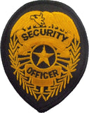 Gold SECURITY OFFICER Badge Iron/Sew On Patch