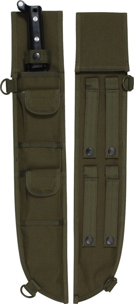 Olive Drab Tactical MOLLE Machete Sheath Case Cover 18