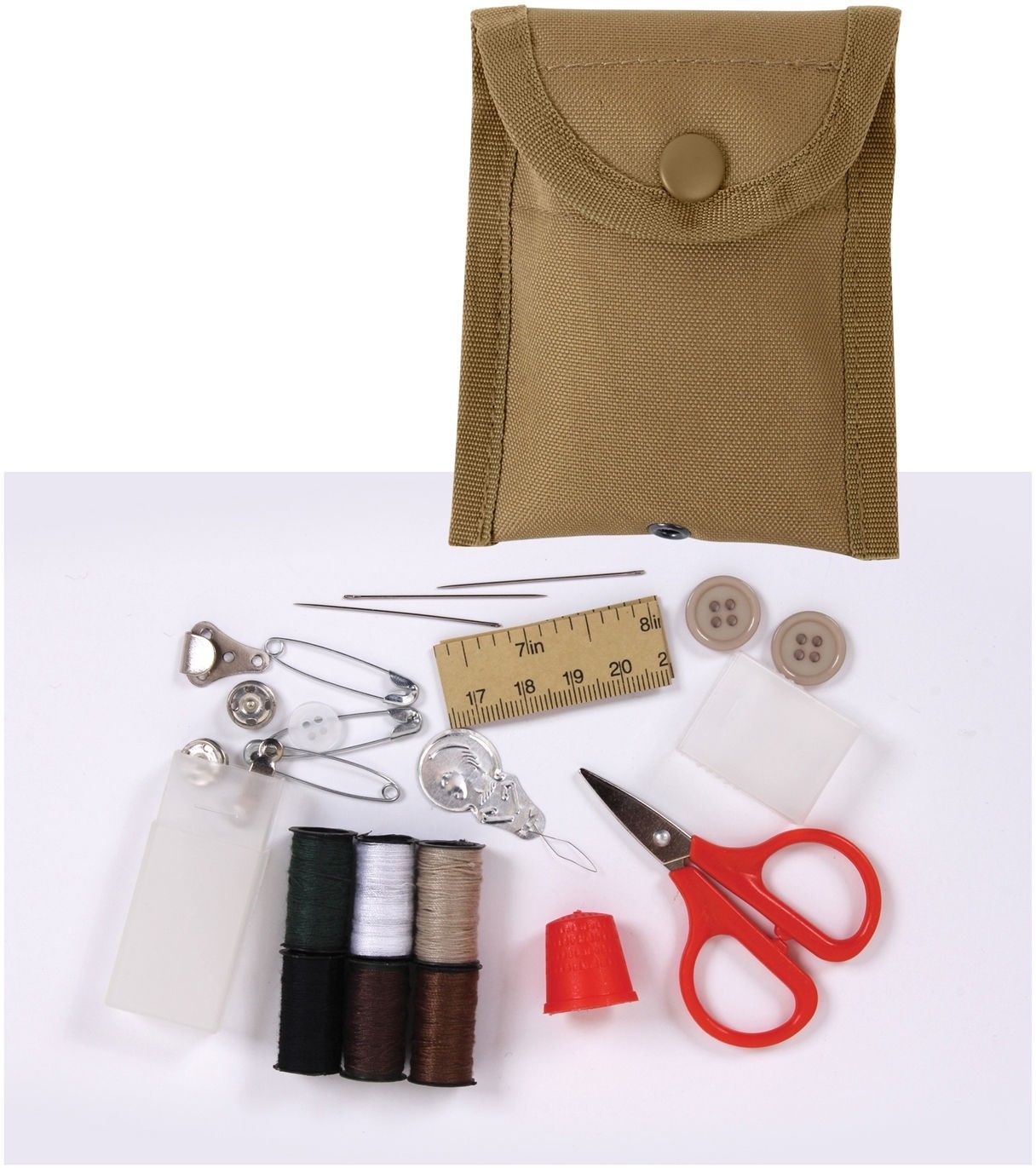 Multicam Emergency Repair Sewing Kit with Coyote Brown Case