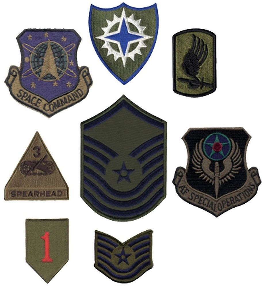08abda4e86a04 Assorted Subdued Official US Military Army Air Force Patches 50 Pack