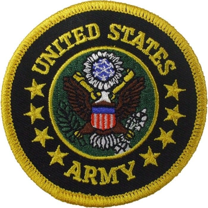 United States Army US Eagle Embroidered Logo Round 3