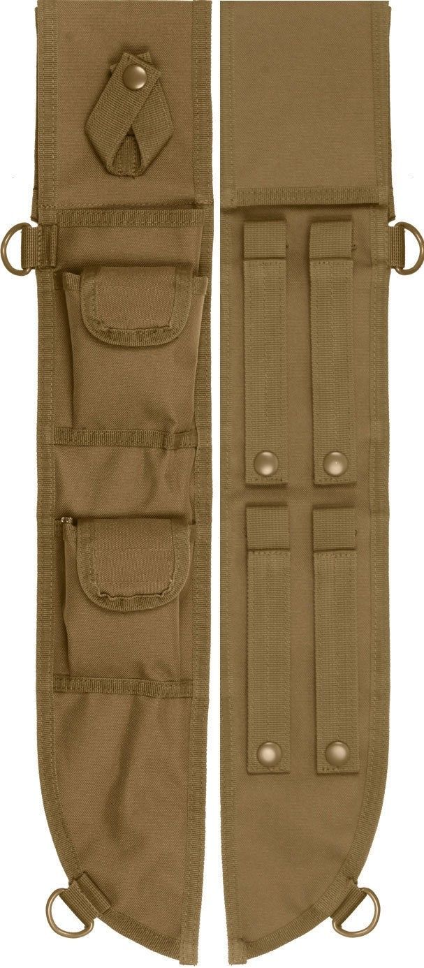 Coyote Brown Tactical MOLLE Machete Sheath Case Cover 18
