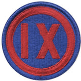 United States Army 9th Corps Insignia Patch